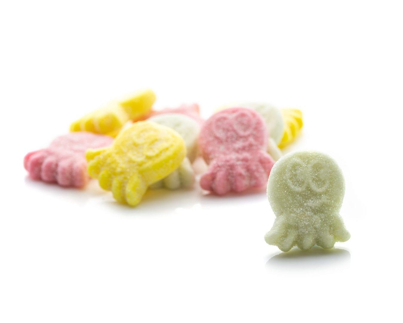 Eat Liquorice - Octopus Sours Vegan Vegetarian Gluten Free Palm Oil Free Soya Free Swedish Jellies Bubs