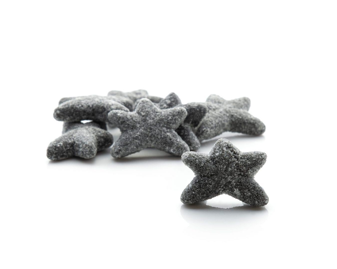 Eat Liquorice - Salted Sea Stars Dutch Liquorice Gluten Free Salt Liquorice Soft Liquorice