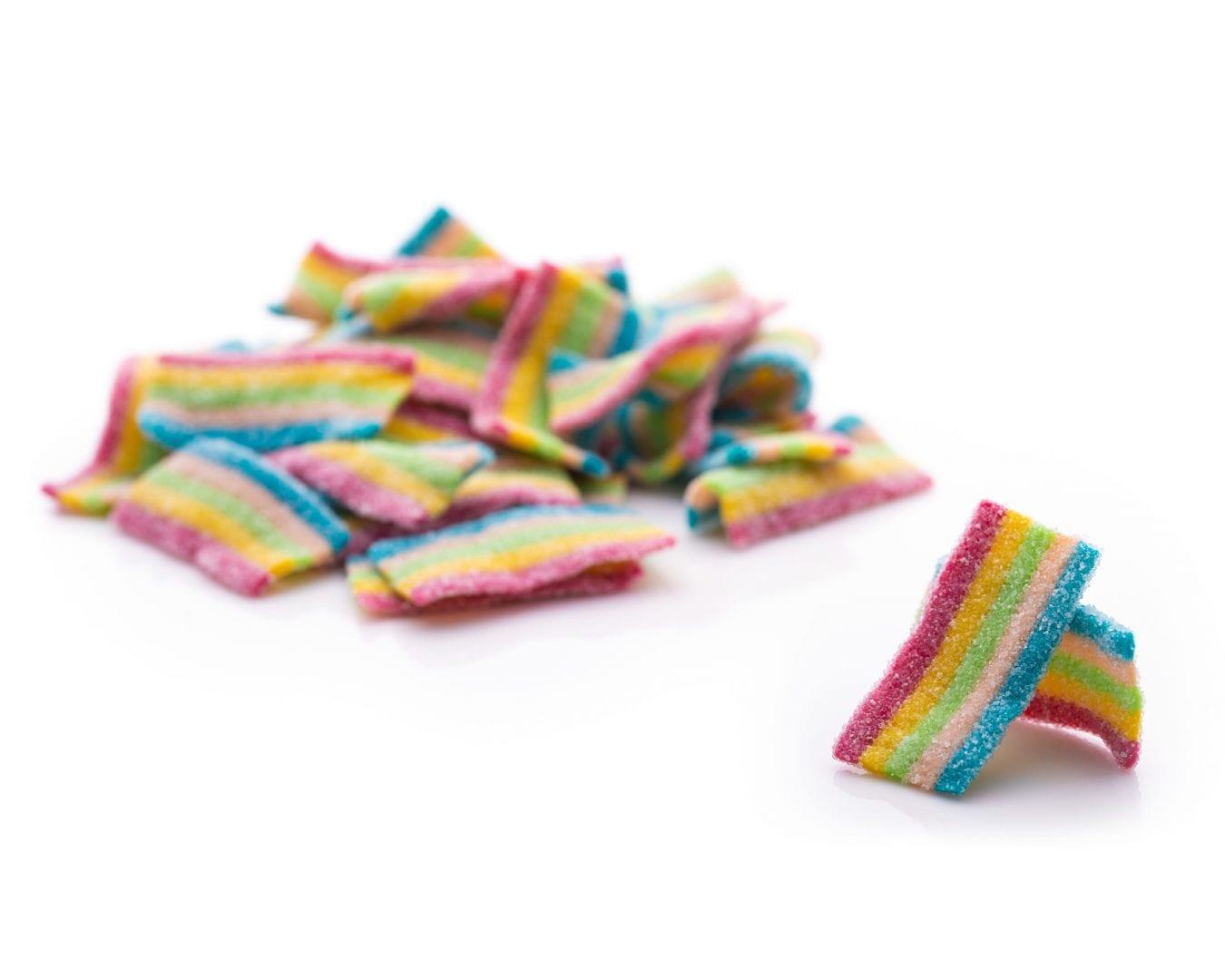 Eat Liquorice - Sour Rainbow Belts Sour Rainbow Bites Sweets